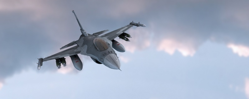 Fighter jet / 3d render